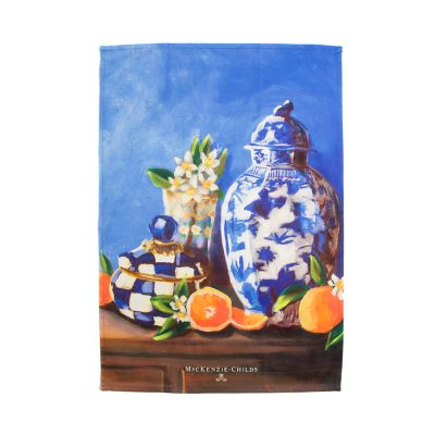 Royal Check Still Life Dish Towel - Vase