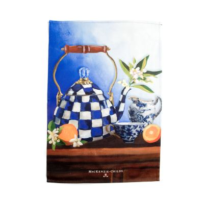 Image for Royal Check Still Life Dish Towel - Tea Kettle