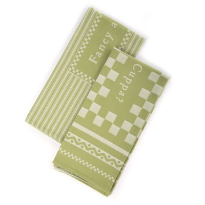Fancy a Cuppa Dish Towels - Green - Set of 2