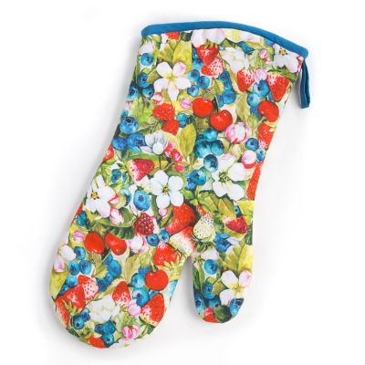 Berries & Blossoms Oven Mitt