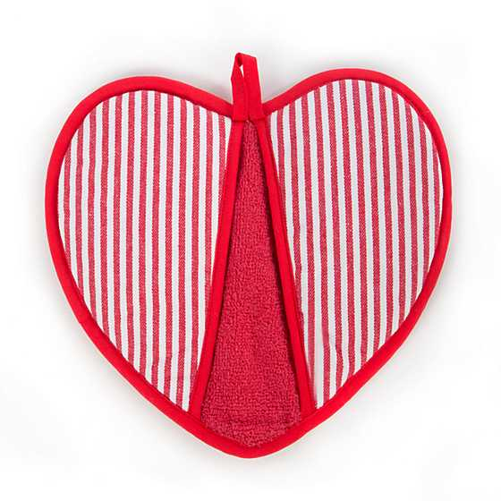 Courtly Check Heart Pot Holder image three
