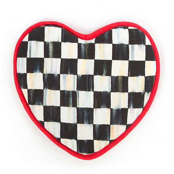 Courtly Check Heart Pot Holder image one