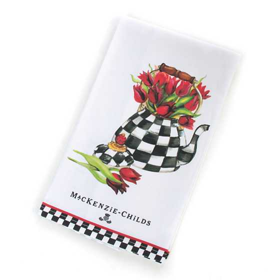 Tulip Tea Kettle Dish Towel image one