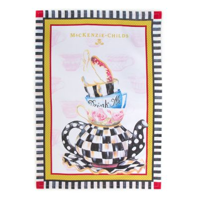 Image for Curious Teacup Tea Towel