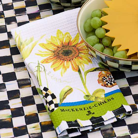 Sunflower Dish Towel image two