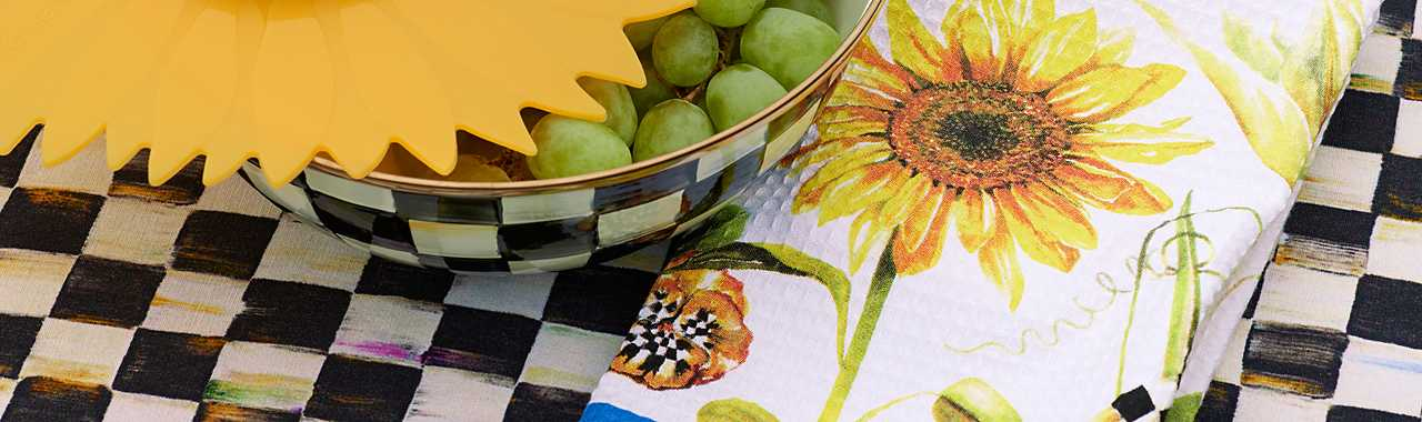 Sunflower Dish Towel Banner Image