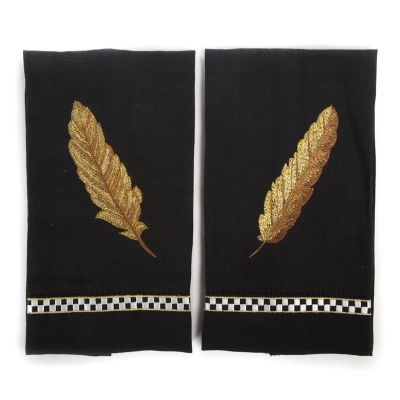 Feather Guest Towels - Set of 2