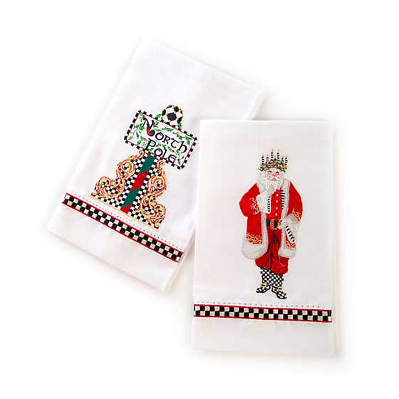 Santa Lucia Guest Towels - Set of 2 image two