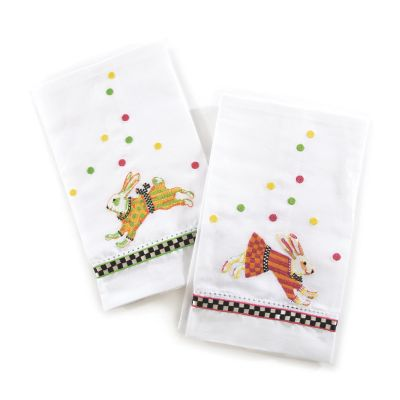 Bunny Hop Guest Towels - Set of 2