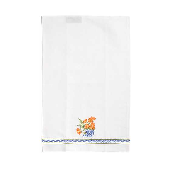 Ming Poppies Guest Towels - Set of 2 image two