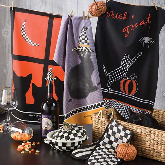 Trick or Treat Dish Towel
