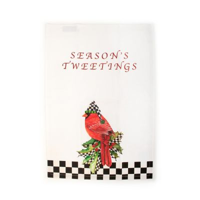 Season's Tweetings Dish Towel