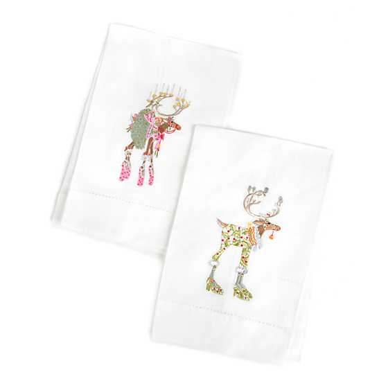 Patience Brewster Dash Away Dancer & Vixen Tea Towels image two