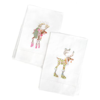 Patience Brewster Dash Away Dancer & Vixen Tea Towels