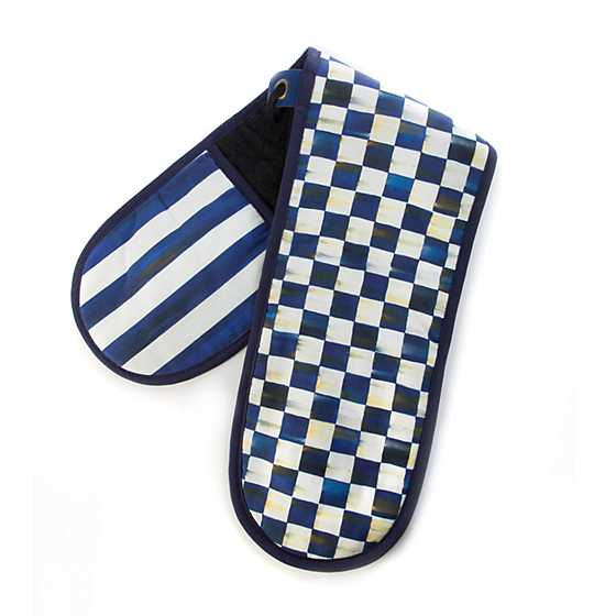 Royal Check Double Oven Mitt - Large