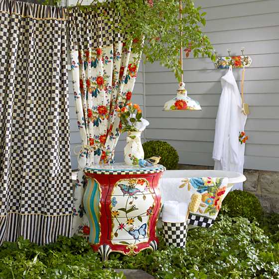 Courtly Check Shower Curtain image two