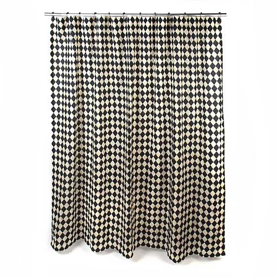 Courtly Harlequin Shower Curtain image one