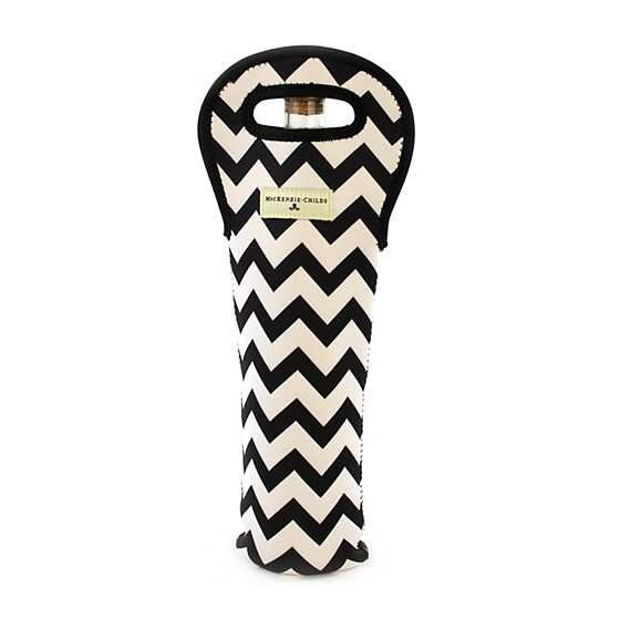Zig Zag Wine Tote - Black image three