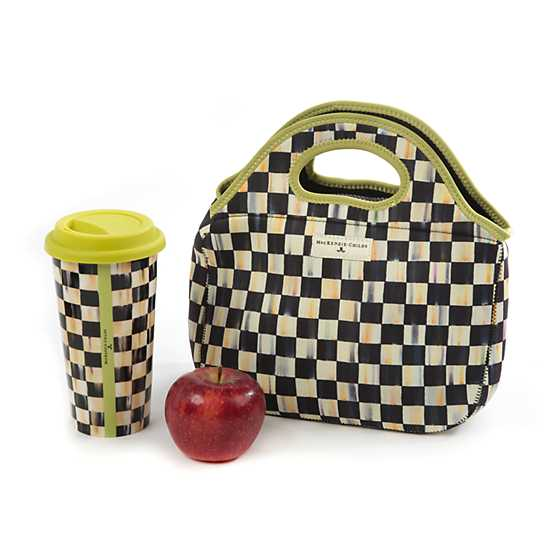 Courtly Check Lunch Tote image four