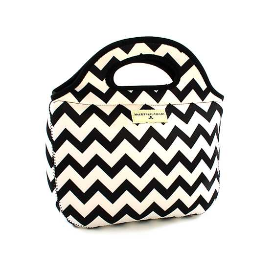 Zig Zag Lunch Tote - Black image one