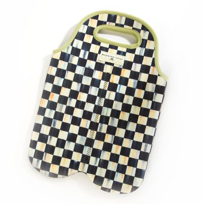 Courtly Check Double Wine Tote