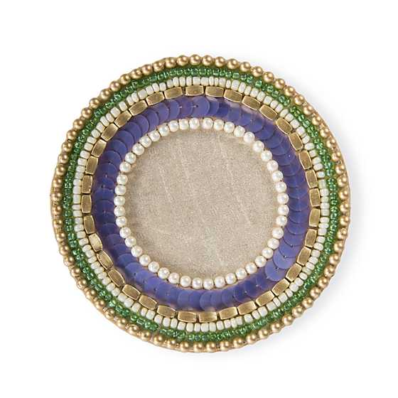 Jeweled Circle Coasters - Thistle - Set of 4