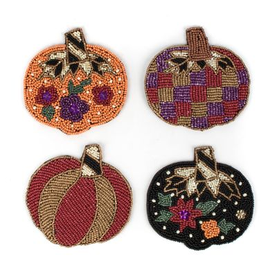 Pumpkin Party Coasters - Set of 4