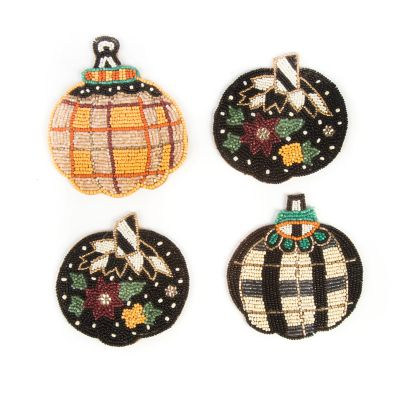 Tartan Spice Pumpkin Coasters - Set of 4