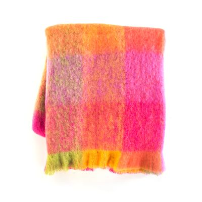 Color Block Throw - Super Pink