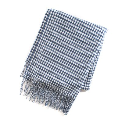 Indigo Villa Houndstooth Throw