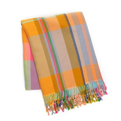 Technicolor Tartan Throw