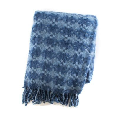 Houndstooth Throw - Bluetopia