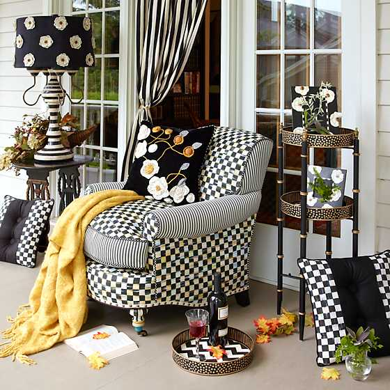 Houndstooth Throw - Gold image two