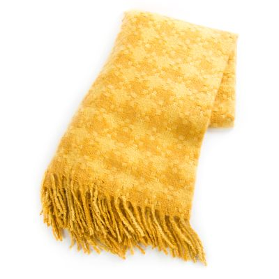 Houndstooth Throw - Gold