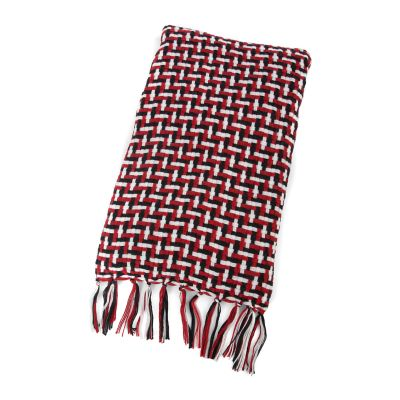 Basketweave Throw - Red