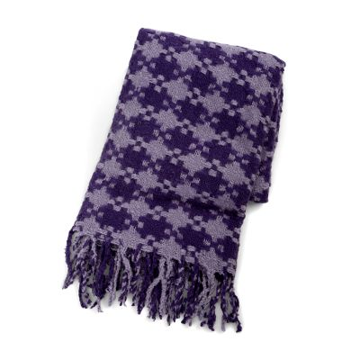 Houndstooth Throw - Lilac