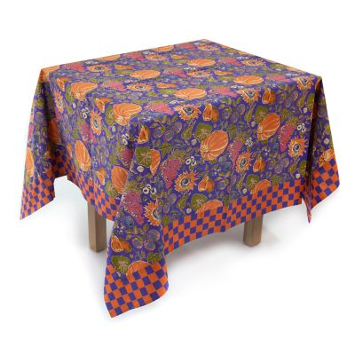 "Harvest Pumpkin Tablecloth - 54"" Square"
