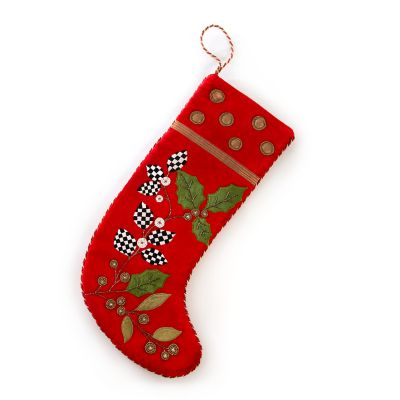 Trailing Holly Stocking