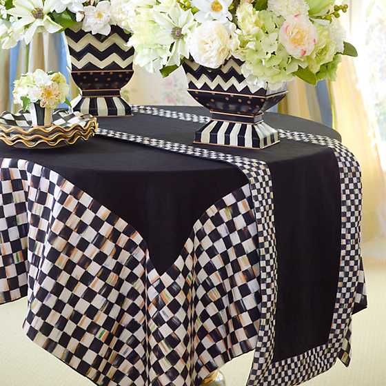 Courtly Check Table Runner - Black image two