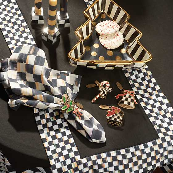 Courtly Check Table Runner - Black image five