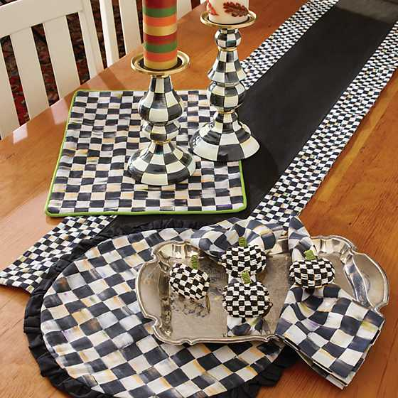 Courtly Check Table Runner - Black image six