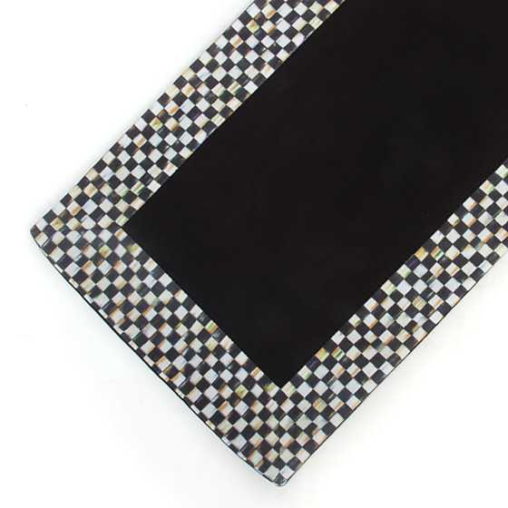 Courtly Check Table Runner - Black image four