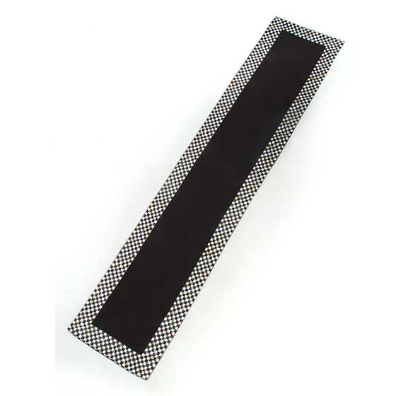 Courtly Check Table Runner - Black image three