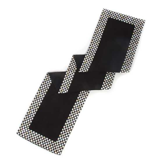 Courtly Check Table Runner - Black