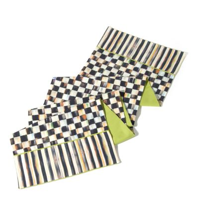Courtly Check & Stripe Table Runner