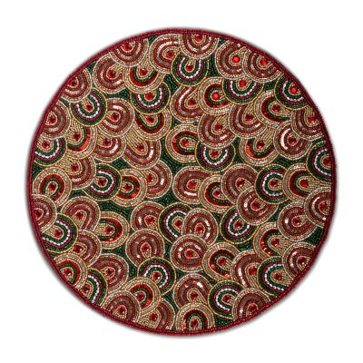 Savoy Holiday Beaded Placemat