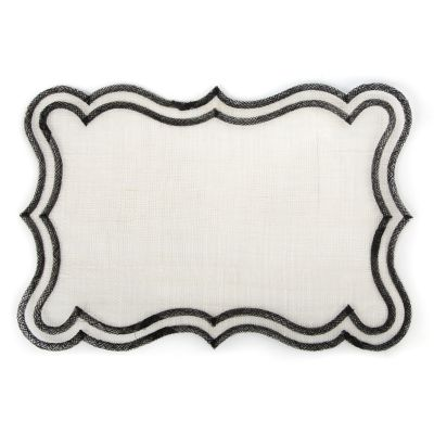 Scroll Placemat - Black