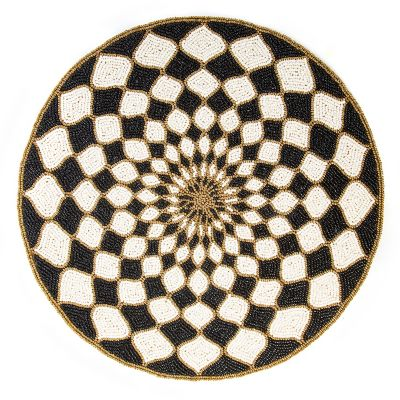 Kaleidoscope Placemat - Black & Ivory