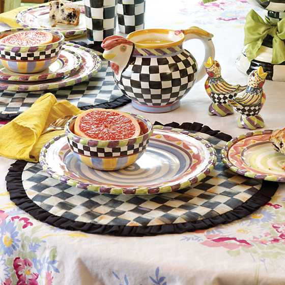 Courtly Check Round Placemat image two