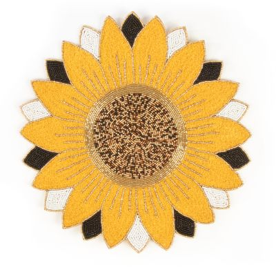 Sunflower Beaded Placemat